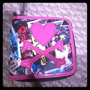 TokiDoki small heart crossbones wallet!